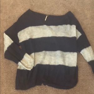 Free People M Oversized Striped Sweater